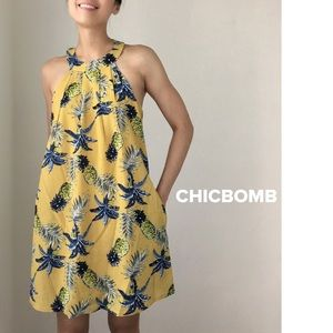 Bora bora resort halter mini dress